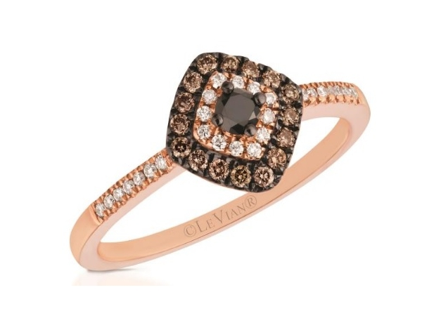 LeVian Blackberry Diamond Ring with Chocolate and Vanilla Diamonds by Le Vian