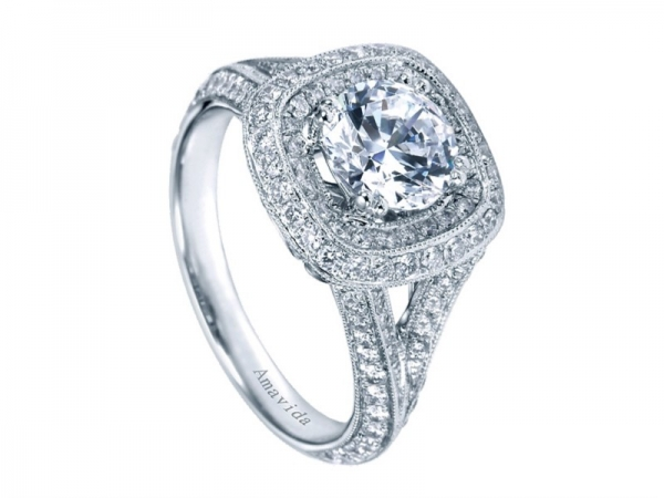 Diamond Semi-Mount Engagement Ring by Gabriel & Co