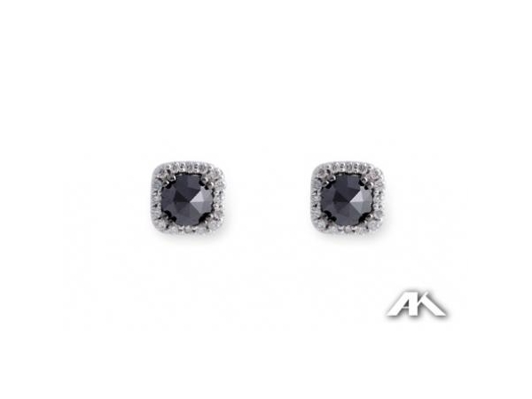 Black and White Diamond Earrings by Allison Kaufman