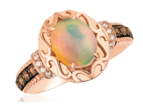 LeVian Neopolitan Opal and Chocolate Diamond Ring by Le Vian