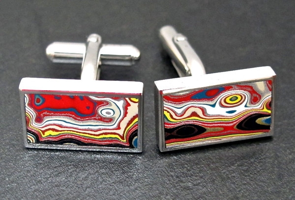 "Fordite Cufflinks - New ""Gemstone"" being used in jewelry"