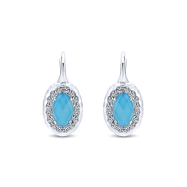 Sterling Silver & Turquoise Earrings by Gabriel & Co