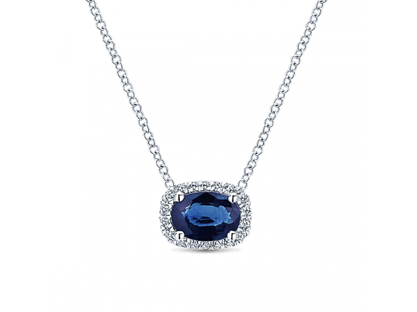 Diamond and Sapphire Necklace by Gabriel & Co