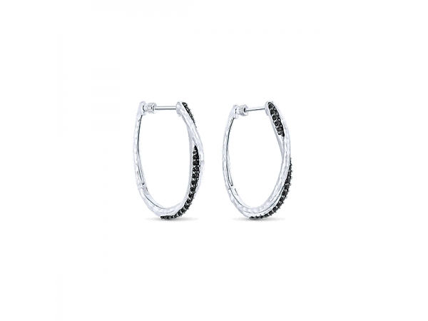 Sterling Silver Hoop Earrings by Gabriel & Co